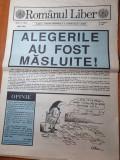 ziarul romanul liber iunie 1990- alegerile au fost masluite