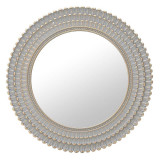 Oglinda de perete Antique Grey, rama melamina, gri/auriu, dimensiuni 76x4 cm