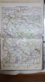 Harta Chișinău, Orhei, Huși, Călărași-Târg, Valea Mare, Măgurele, 1928