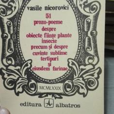 51 prozo-poeme – Vasile Nicorovici