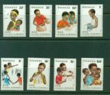 RWANDA 1981 COPII, Nestampilat
