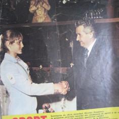 Revista Sport (nr. 8, august 1976), numar omagial dedicat Nadiei Comaneci