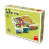 Cumpara ieftin Puzzle din lemn, cuburi, Profesii, 12 buc, 6 imagini posibile