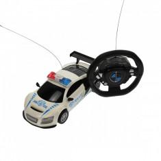 Masina de politie, de jucarie, cu sunete, radiocomanda, alba - 19919A