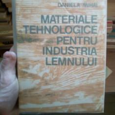 Materiale tehnologice pentru industria lemnului – Daniela Mihai