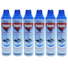 6 x Baygon, insecticid spray universal, muste si tantari, 6 x 400ml