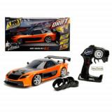 Masinuta de jucarie cu telecomanda RC, Fast and Furious Mazda RX-7