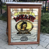 Vintage Bowies Rock Rye Whisky Large Advertising Mirror Man Cave Home Bar