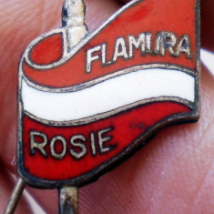 I.875 INSIGNA ROMANIA STICKPIN SPORT CLUB FLAMURA ROSIE FOTBAL UTA ARAD