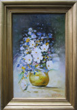 Tablou ghiveci cu flori semnat Cimpoesu dupa Grigorescu