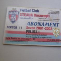Steaua Bucuresti (abonament sezon 2001-2002)