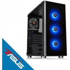 Sistem desktop Gaming Powered by ASUS Typhoon V2 AMD Ryzen 7 2700X Octa Core 3.7 GHz 16GB RAM DDR4 nVidia GeForce GTX 1660 Ti STRIX GAMING O6G 6GB GDD