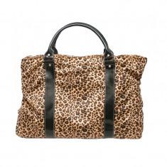 Geanta dama A11783 Lamonza, imprimeu leopard