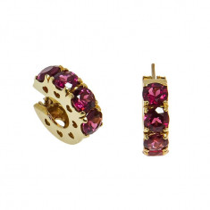Cercei din aur cu turmaline roz - Pasquale Bruni, 18k