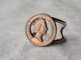 INEL argint ELIZABETH II vechi REGLABIL excutat prin TRAFORAJ vintage SPLENDID