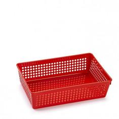 Cutie din plastic multiple intrebuintari-rosu