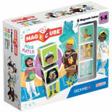 Set de constructie magnetic Magic Cube Match, 6 piese