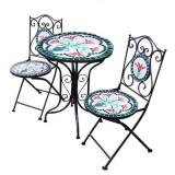 Set 2 scaune si masa din mozaic