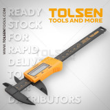 Subler Digital 150mm Fibra Carbon TOLSEN