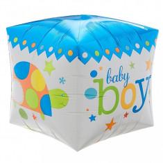 Balon Cubez 3D Baby Boy din folie 38 x 38 cm foto