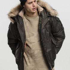 Hooded Heavy Fake Fur Bomber Jacket