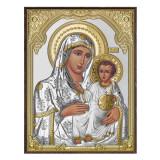 Cumpara ieftin Icoana de Argint Maica Domnului de la Ierusalim 8x11cm cu auriu COD: 2594