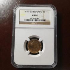 moneda aur 10 franci 1916 NGC