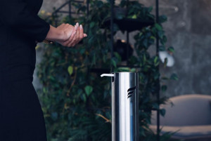 Dozatorul / Dispenserul Urban Sanitizer® de Gel / Lichid Dezinfectant