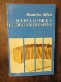 Scurtă istorie a literaturii române, vol. II - Dumitru Micu
