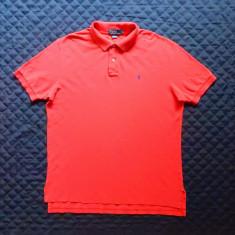 Tricou Polo by Ralph Lauren.  Marime XL: 64 cm bust, 76 cm lungime, 53 cm umeri