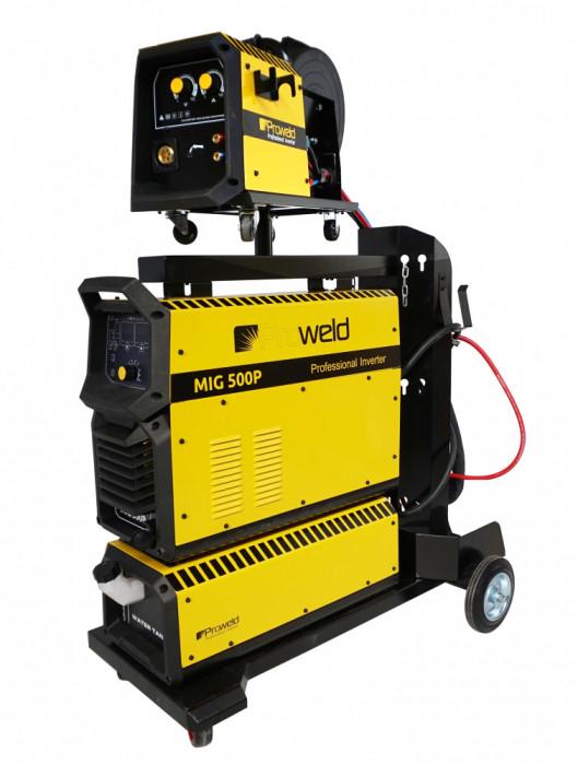 ProWELD MIG 500P invertor sudare MIG MAG profesional, racire cu lichid, derulator detasabil, sudura aluminiu