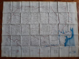 Harta matase britanica editata de War Office Bucuresti-Lublin Zithomir