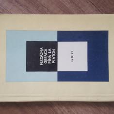 FILOSOFIA GREACA PANA LA PLATON - INDICI , 1984