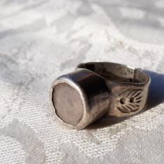 INEL argint BEDUIN TUAREG TRIBAL de efect REGLABIL robust MASIV vintage VECHI