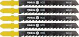 Set 5 panze pentru fierastru pendular lemn moale 6 TPI VOREL