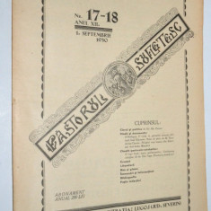Revista teologica Pastorul sufletesc NR. 17- 18 , Lugoj 1930