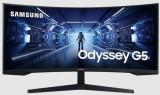 Cumpara ieftin Monitor Gaming VA LED Samsung 34inch LC34G55TWWUXEN, WQHD (3440 x 1440), HDMI, DisplayPort, Ecran curbat, 165 Hz, 1 ms (Negru)
