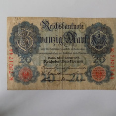 Bancnote Germania 20 marci 1914