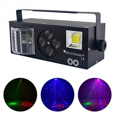 SUPER LUMINA DISCO 4in1,LASERE,STROBOSCOP,DERBY LIGHT SI MOON FLOWER,TOATE IN 1!