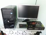 Unitate PC. N Joy cu monitor 19 inch si tastatura gaming, Intel Core i3, nJOY