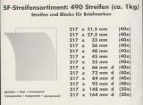 Posete filatelice spate negru L=217 mm.,diferite latimi 490 buc. 1000 gr.