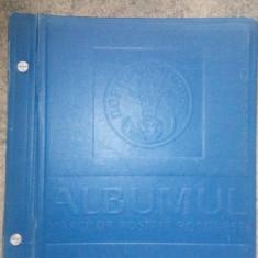 Romania.1858/1968 Album ptr. timbre cu pagini pretiparite 200 buc.