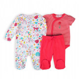 Set salopeta bebe, colanti si body Minoti Ladybug