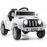 Mașinuță electrică pentru copii cu telecomandă, Alb