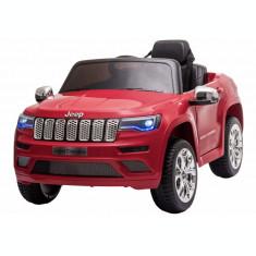 Masinuta electrica Premier Jeep Grand Cherokee, 12V, roti cauciuc EVA, scaun piele ecologica, rosu