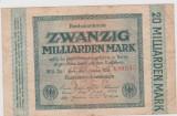 BANCMOTA 20 MILIARDE MARCI GERMANIA UNIFATA 1 OCTOMBRIE 1923/UNC
