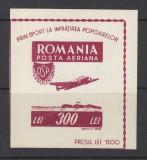 ROMANIA 1946 LP 201 OSP COLITA NEDANTELATA MNH, Nestampilat