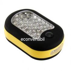 Lampa 27 LEDuri cu Magnet si Agatatoare
