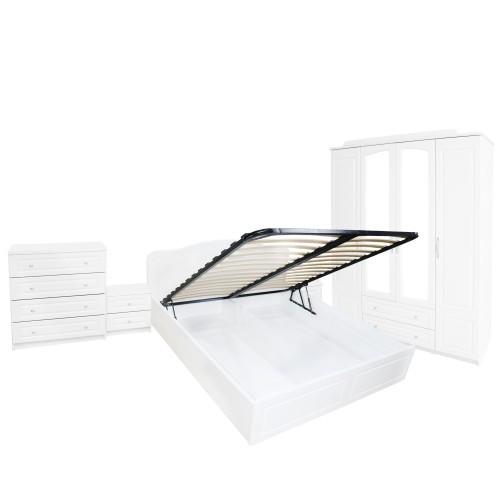 Dormitor Sara cu pat 180x200 cm cu somiera rabatabila