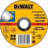 Disc abraziv pentru metal DeWalt 125x1.2x22.3mm - DT42340Z